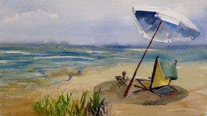 Beach Scene, Lee Bauman