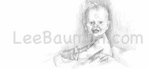 Baby Drawing - Lee Bauman