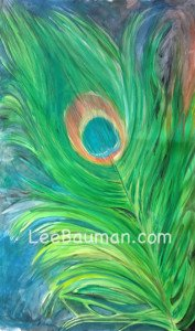 Green Peacock - Lee Bauman