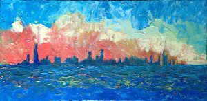 Chicago Skyline Art - Lee Bauman