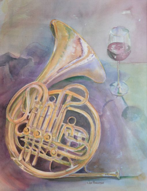 Horn and Wine Glass