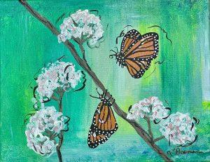 Butterflies on a Floral Grassland
