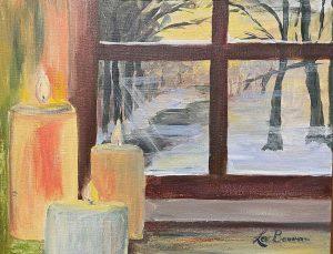 Winter Window Scene